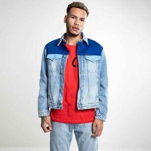 Calvin Klein Color-block Trucker Jacket